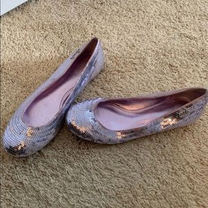 Coach Sequin Flats